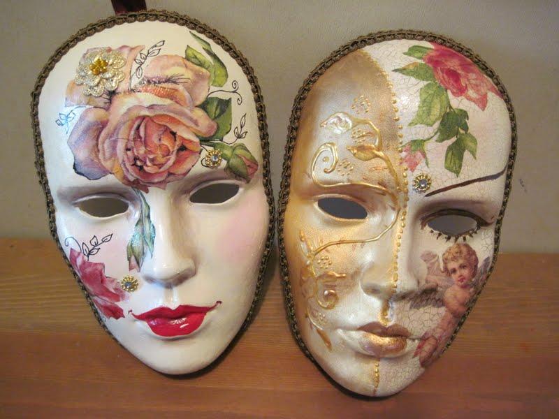 El rinc n del decoupage las m scaras de rut - Mascaras venecianas decoracion ...