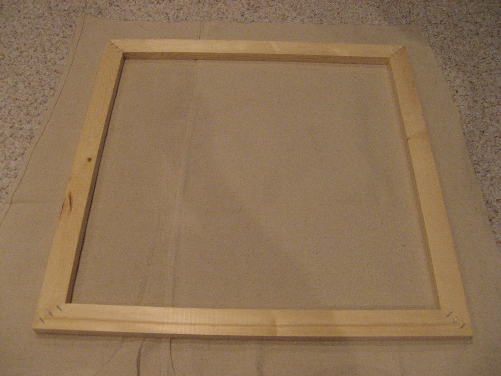 How To Make Your Own Canvas Frame The Chic Prof