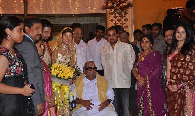 Rambha wedding reception stills