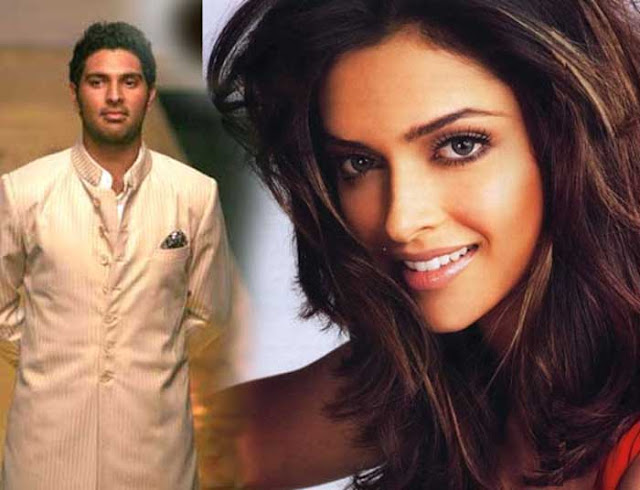Yuvaraj and Deepika Padukone