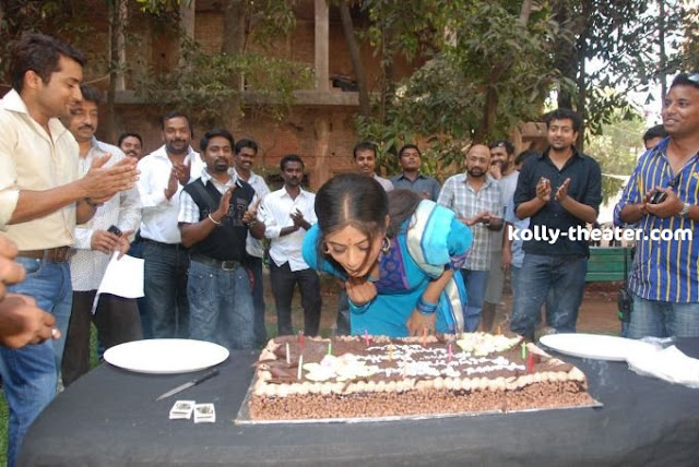 Priya Mani Birthday bash Stills on Rattha Charithram sets