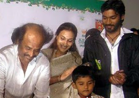 Dhanush on his second son