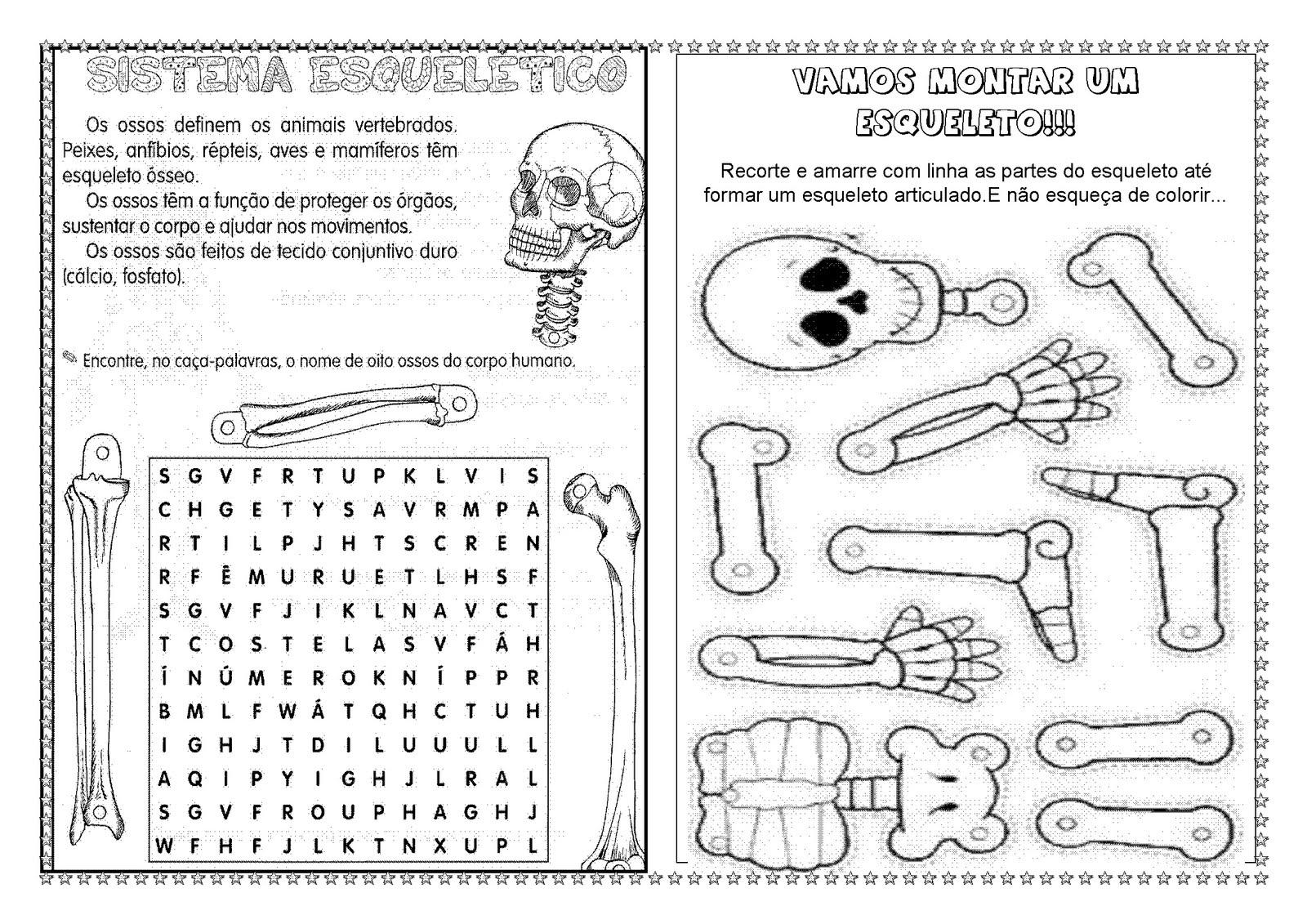 Magnífico Hoja Esqueleto Humano Festooning - hoja de cálculo ...