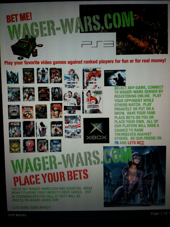 Bet wager ideas