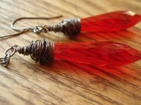 Blood Red Lovely Earrings
