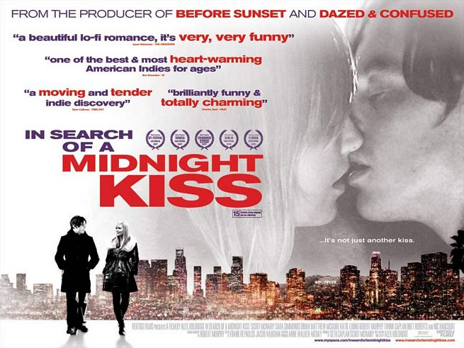 Buscando un beso a medianoche ( In Search of a Midnight Kiss ) guión y dirección de Alex Holdridge - Inzitan blog