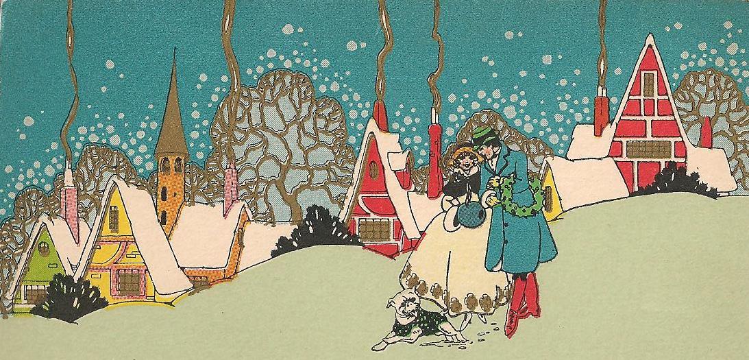 1920s Art Deco Christmas Cards