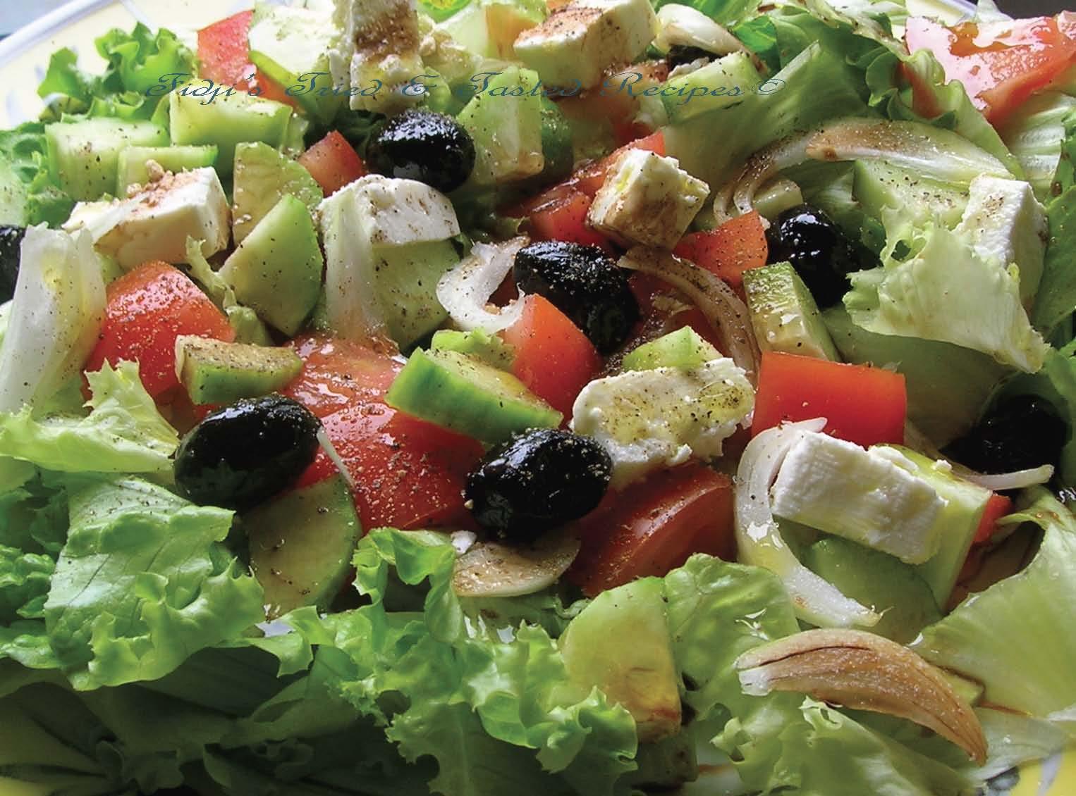 Fidji's Tried & Tasted Recipes: Greek Salad