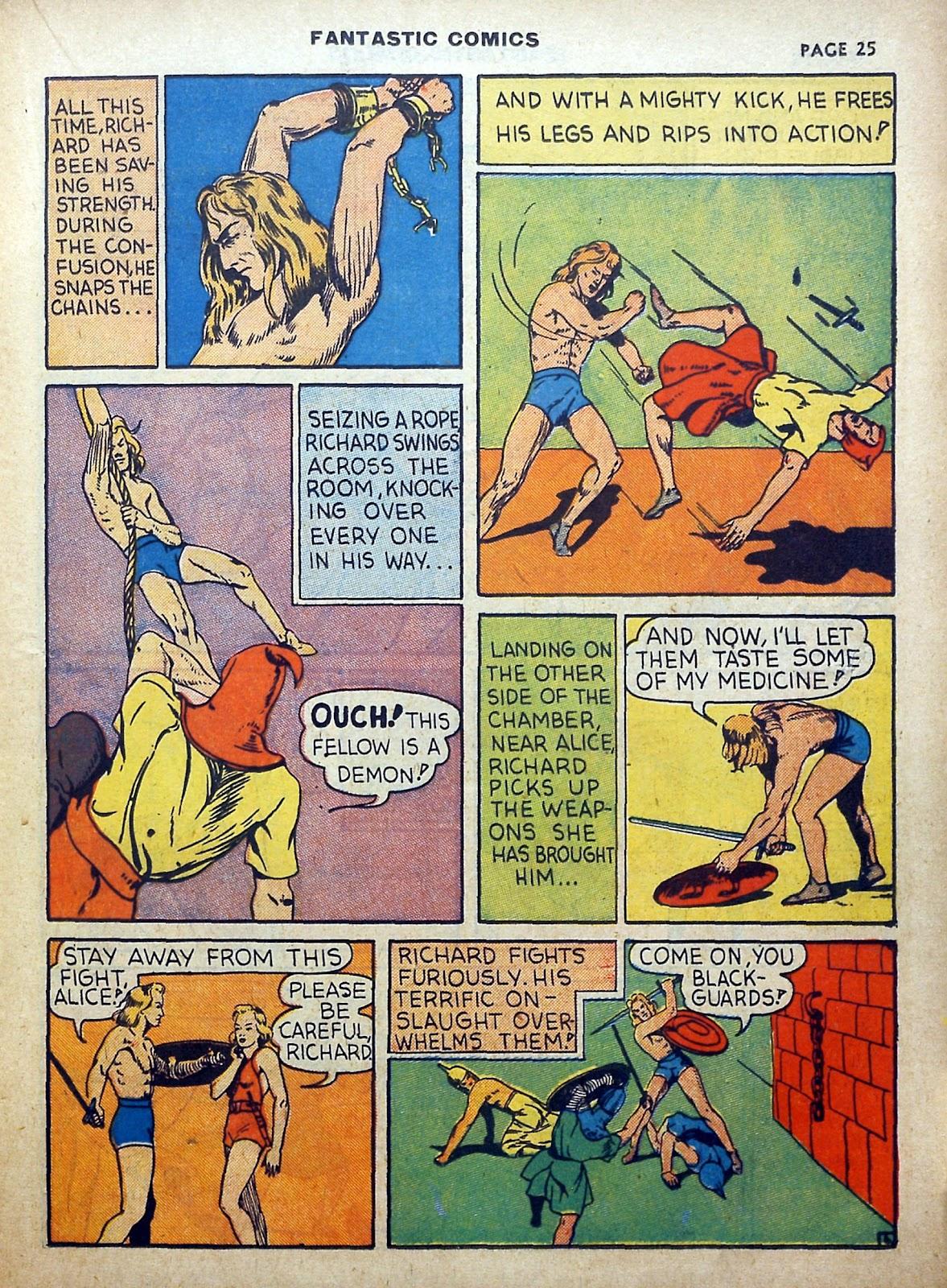 Read online Fantastic Comics comic -  Issue #5 - 26