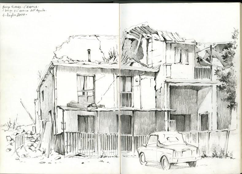 Una carriola di disegni: Borgo Rivera