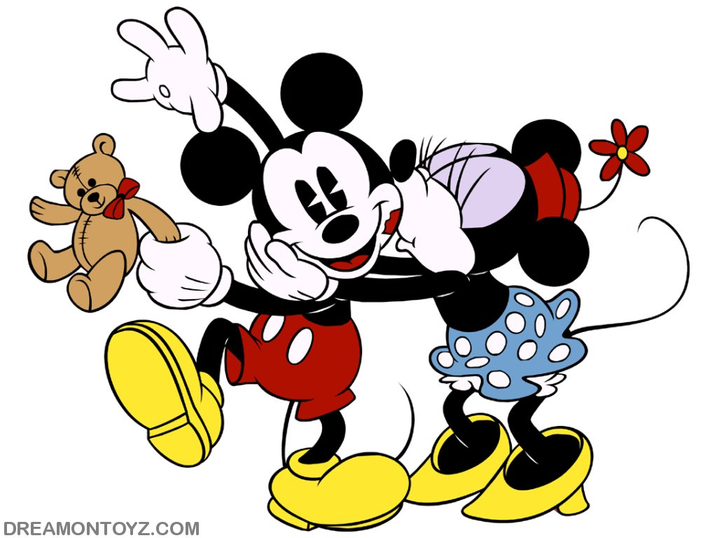 FREE Cartoon Graphics  Pics  Gifs  Photographs Mickey and Minnie Mouse wallpapers