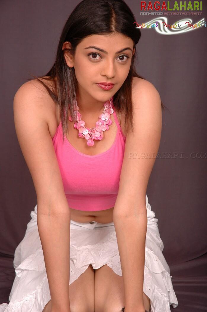 Hot photoshoot of KAJAL AGARWAL in pink dress
