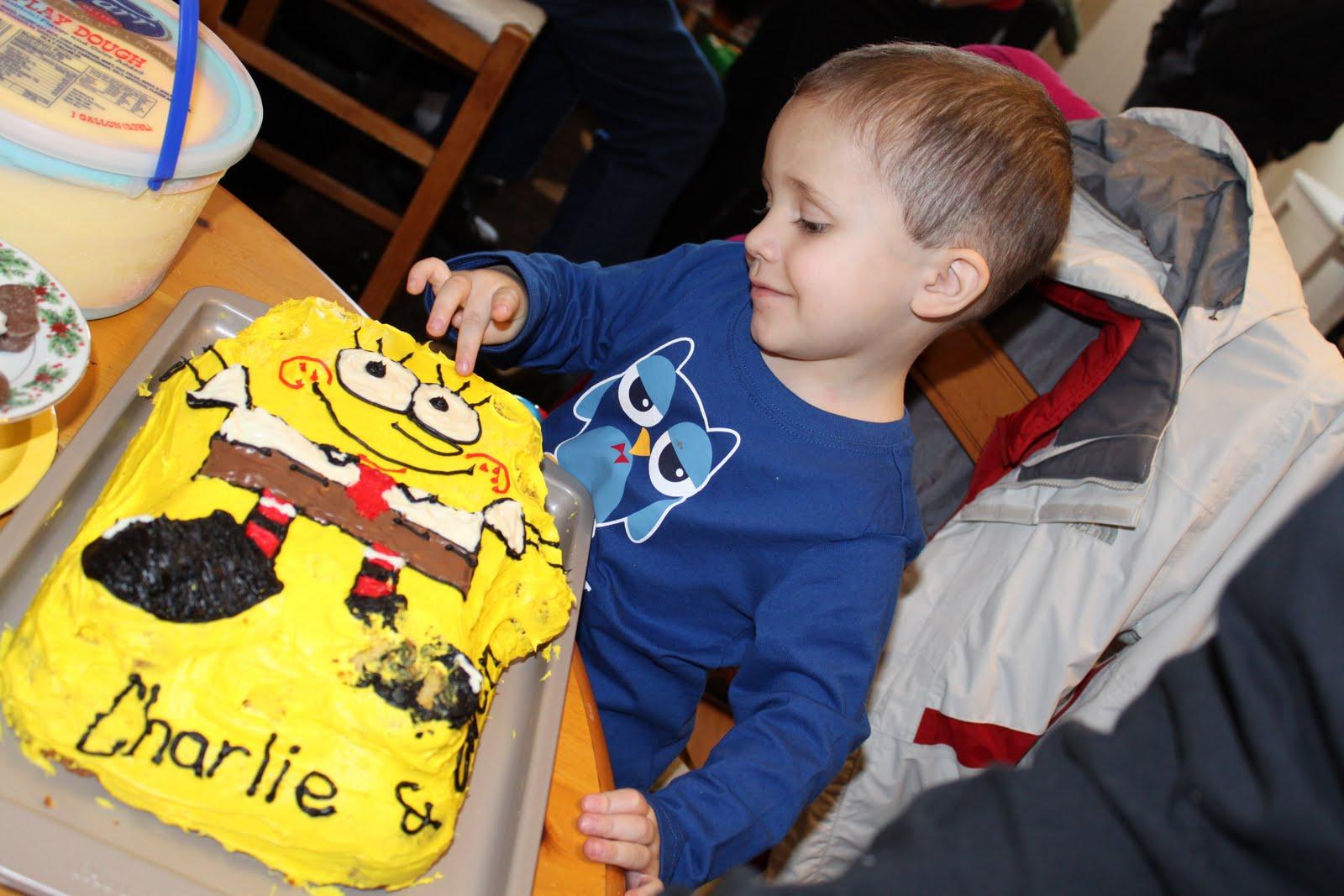 She S Crafty Spongebob Birthday For My Two Baby Boys