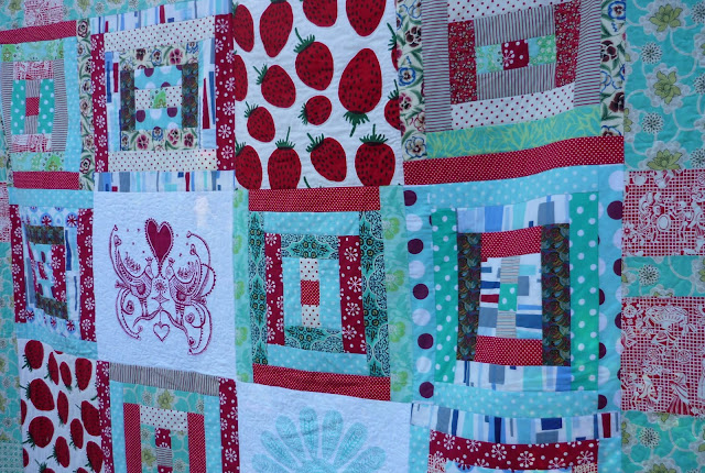 My Quilt History- Part 5 -Strawberries on Ice