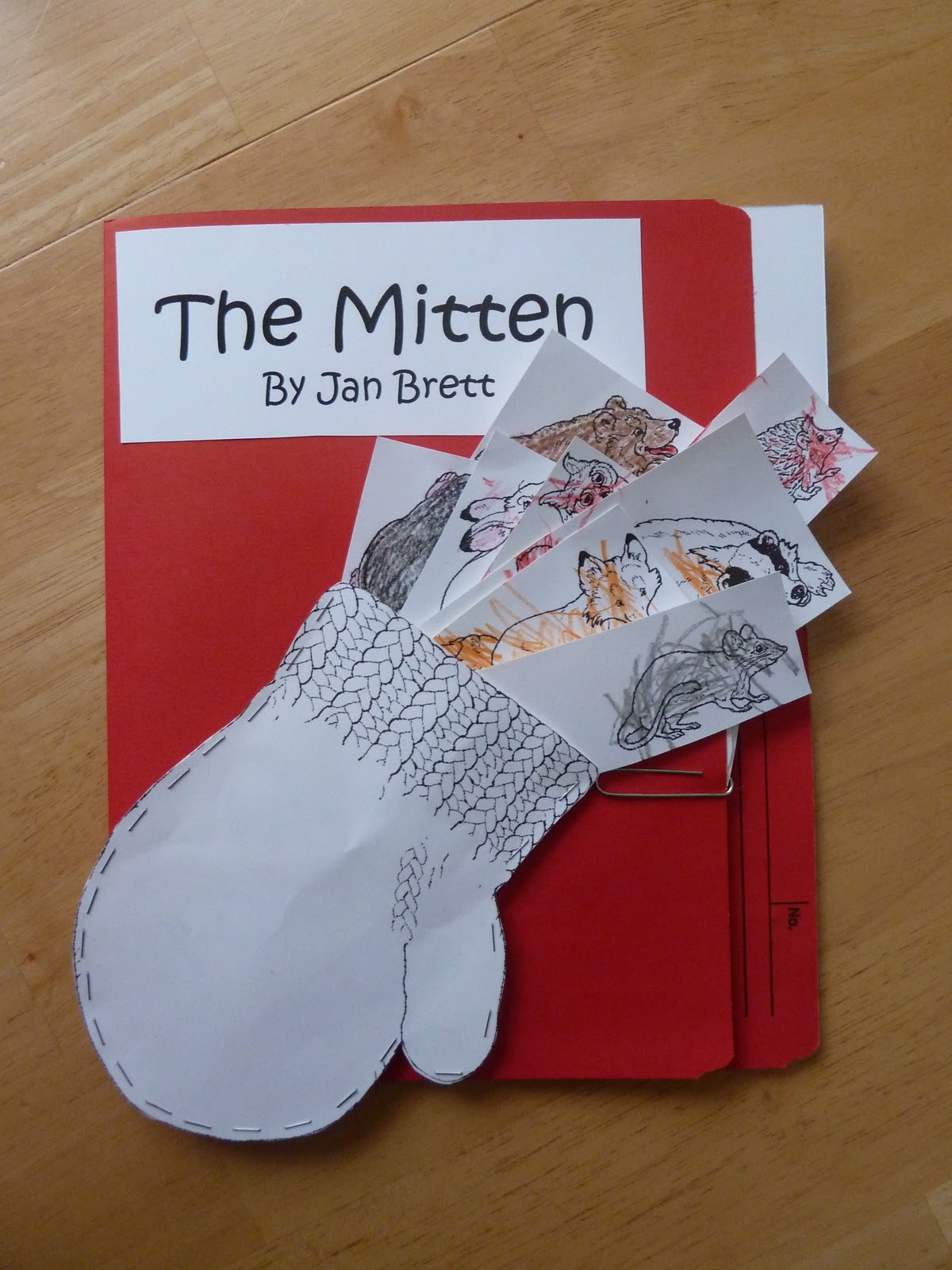A Mommy Montage The Mitten Lapbook