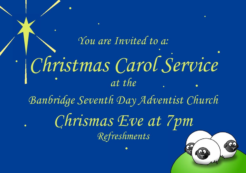 Do 7th Day Adventists Celebrate Christmas.Banbridge Seventh Day Adventist Church Announcement