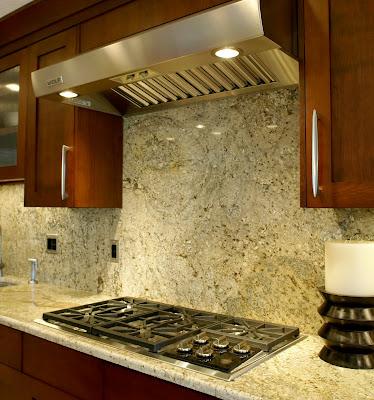 not only for countertops granite backsplashes create seamless design - Pictures Of Kitchen Countertops And Backsplashes