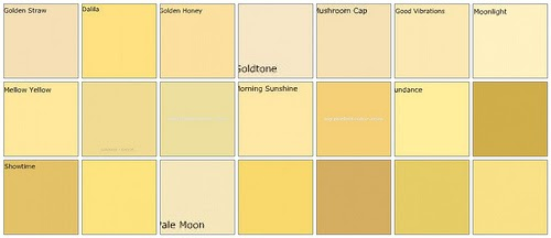 Here Are But A Few Of The Yellow Gold Hues Available Through Benjamin Moore