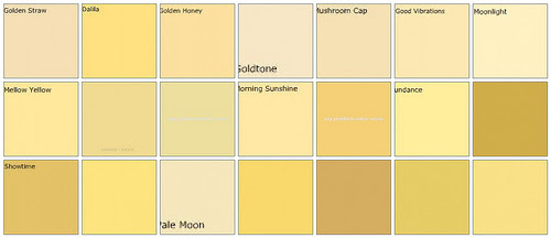 C b i d home decor and design exploring wall color the for Different yellow paint colors