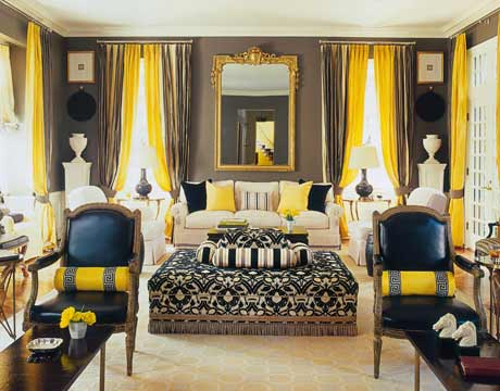 Grey Black And Yellow Living Room c.b.i.d. home decor and design: exploring wall color: the warm