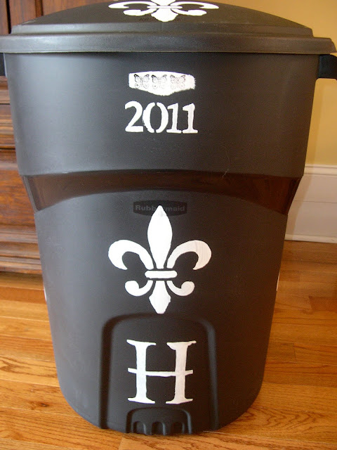 Decorating a Trash Can & Lessons in Grace