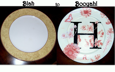 make your own monogram plate