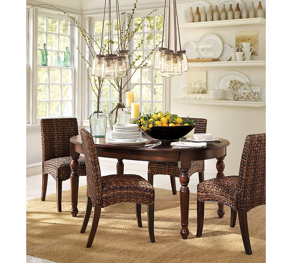 Pottery Barn Dining Room: Mason Jar Chandelier