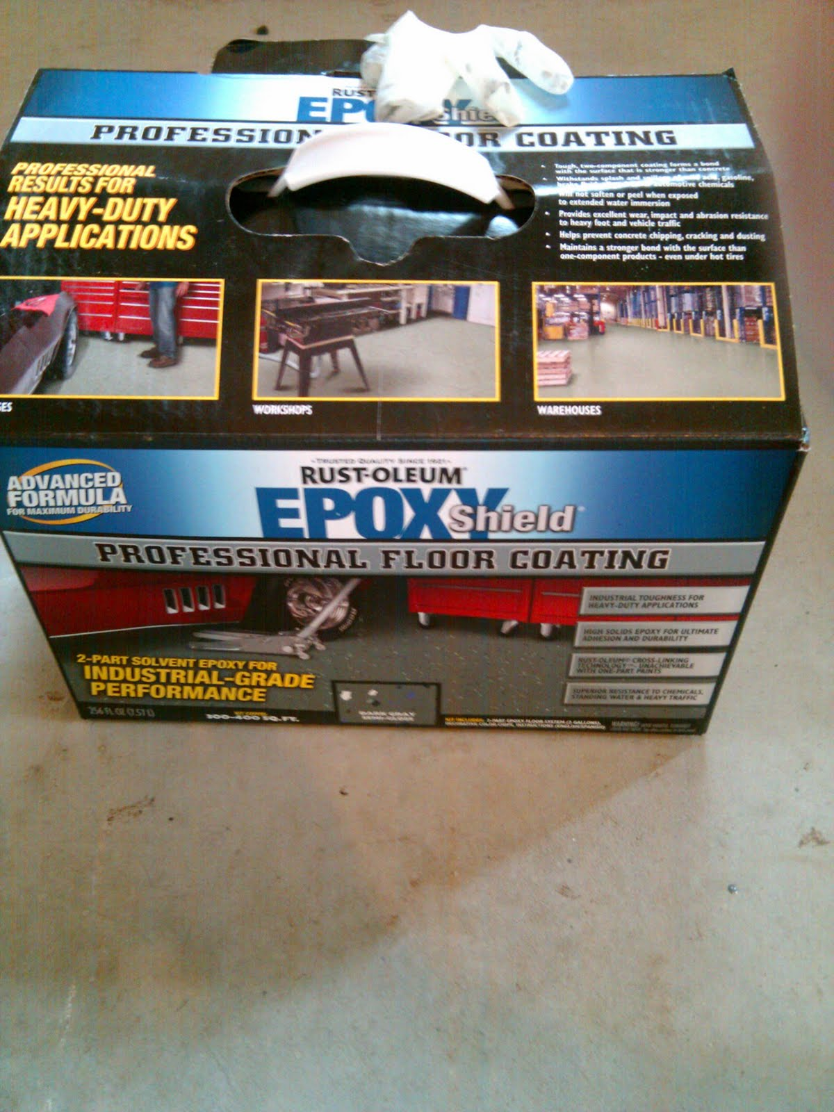 garage epoxy paint overlay floor metallic kit img concrete copper