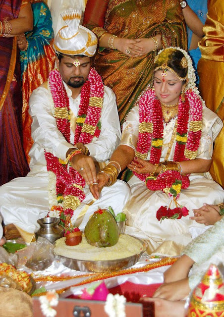 Rambha  marriage Stills