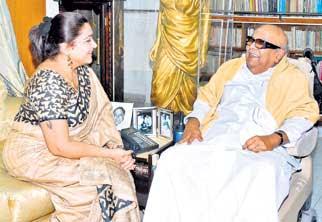 Karunanidhi to give  Kushboo Member of Legislative Council  post