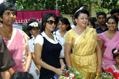 Asin at Jaffna with Shiranthi Wickramasinghe Rajapaksa