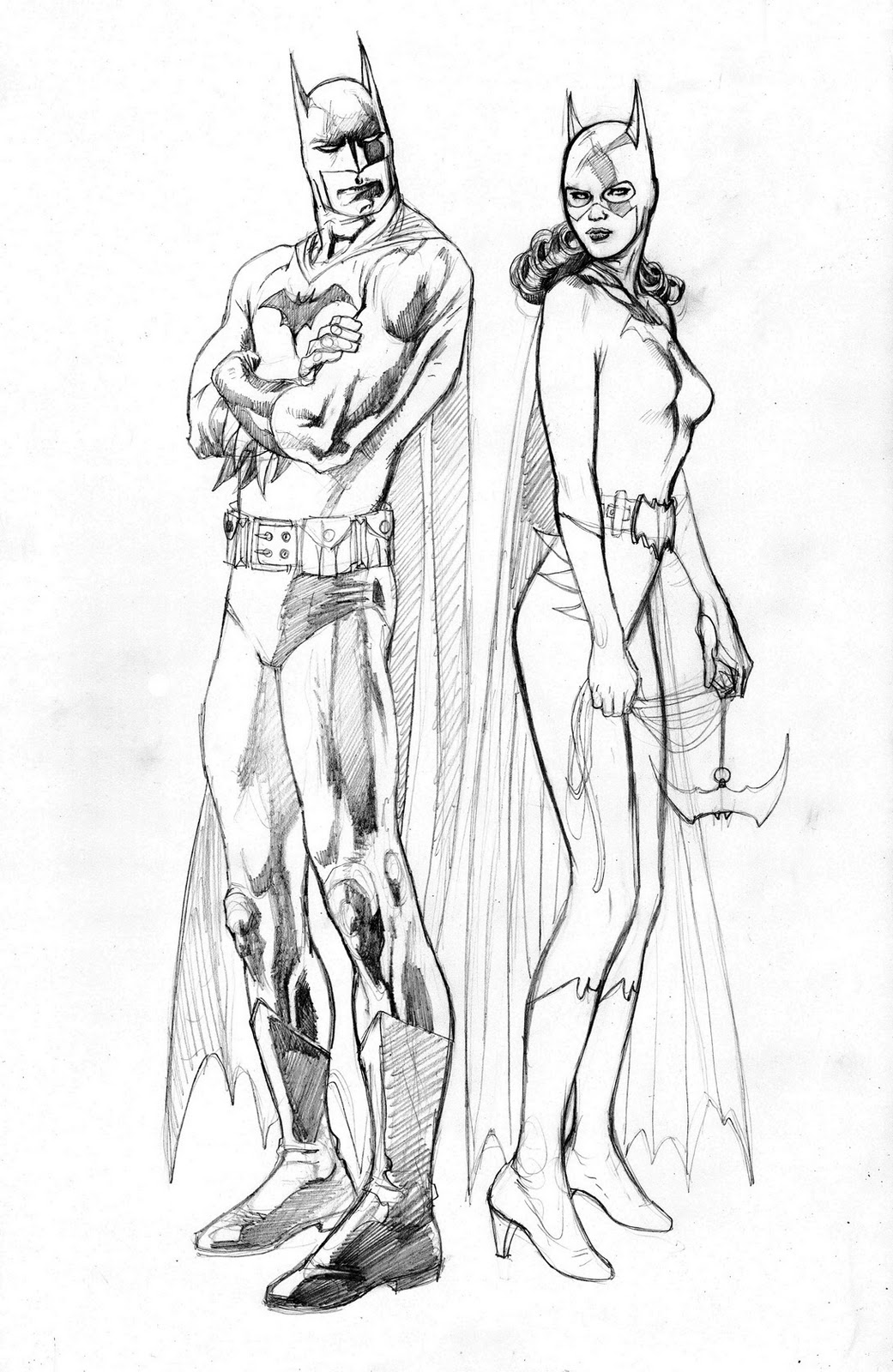 batman and batgirl coloring pages - photo#7