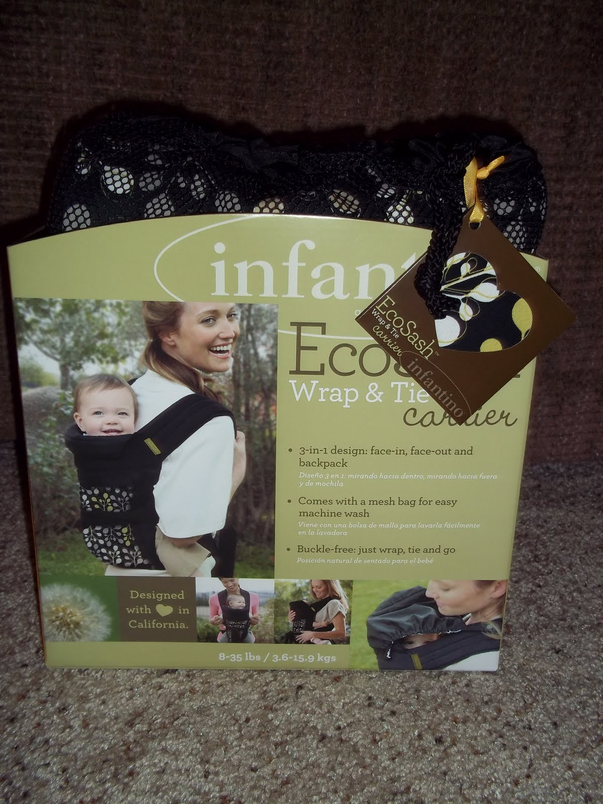 Infantino Ecosash Wrap Amp Tie Carrier Review