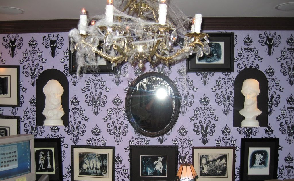 At-Home Imagineering: Haunted Mansion inspired bedroom is ...  Haunted Mansion Themed Bedroom