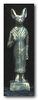 منحوتة لآلهة القطط عند قدماء المصريين باستت