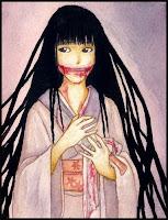 الرسوم المتحركة مانغا كانت أيضاً متأثرة بأسطورة أوشيساكي أونا أو المرأة ذات الفم المشروط