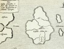 رسم منقوش يعود إلى القرن السابع عشر يتناول قارة أتلانتس