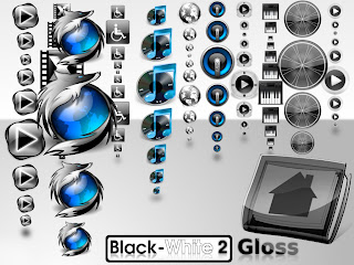 Black White 2 Gloss Iconset