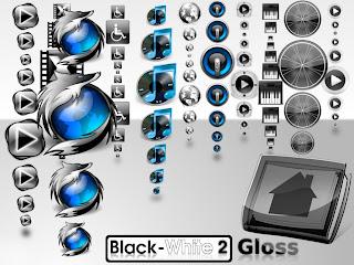 Black White 2 Gloss Iconset