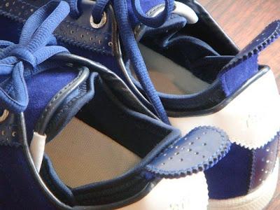 Terrem(テレム)PUBLIC CL NAVY/SUEDE スニーカー 履き口アップ写真