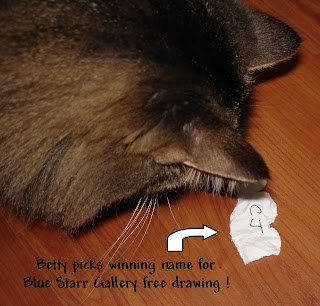 Betty-picks-winning-name-for-Blue-Starr-Gallery-free-drawing