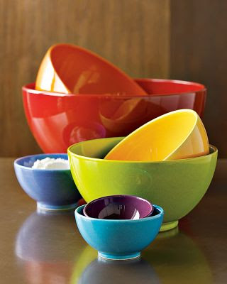 striped duck cookery ceramic mixing bowls rainbow nesting in the kitchen. Black Bedroom Furniture Sets. Home Design Ideas