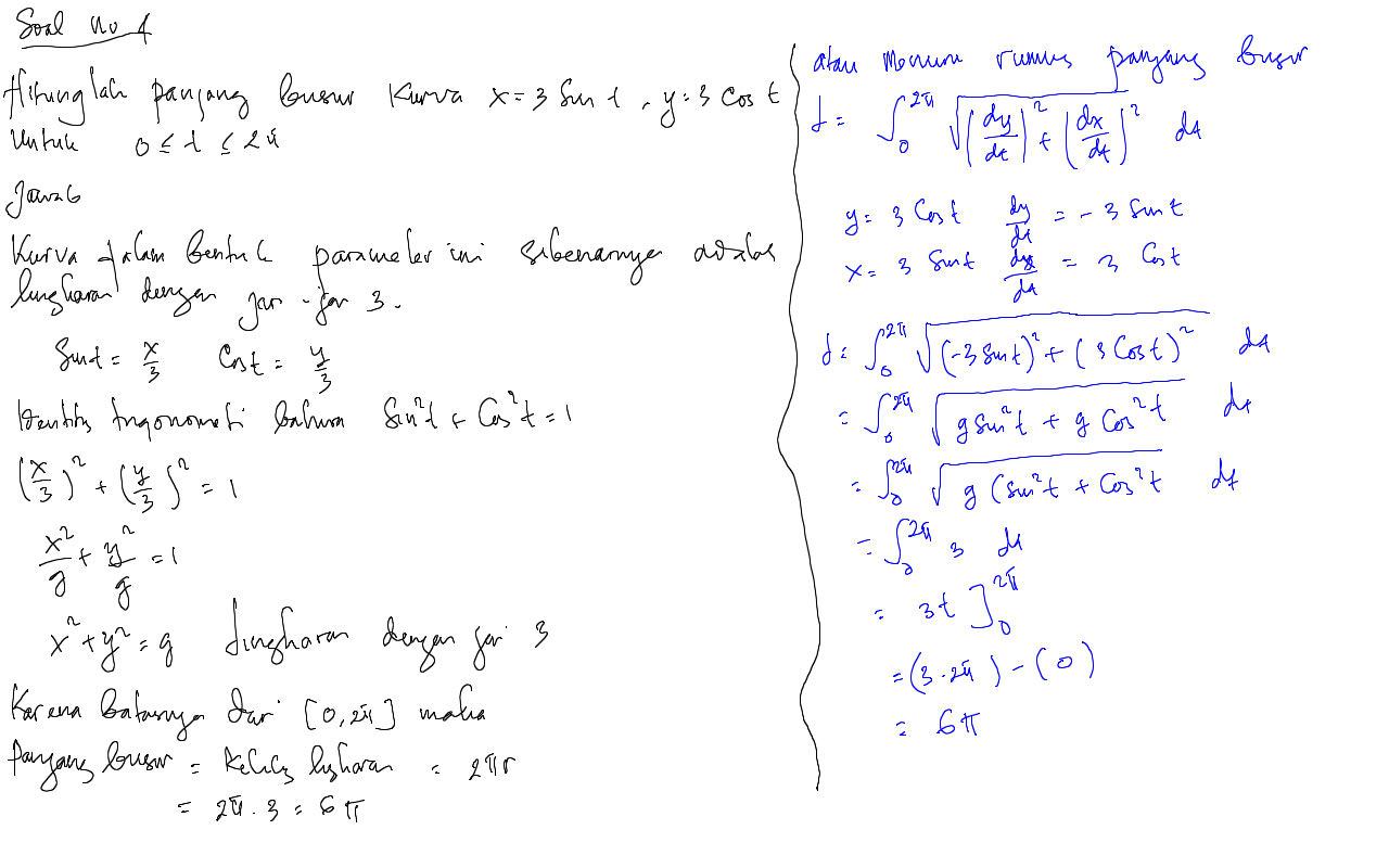 Turunan dari 2x + c adalah 2. Contoh Soal Kalkulus