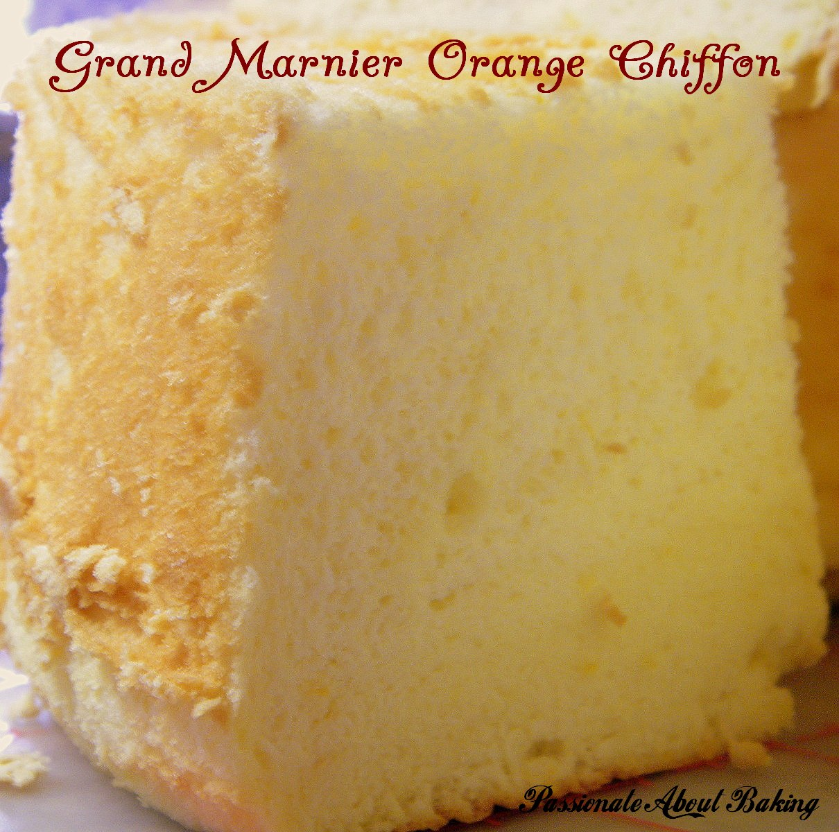 Grand Marnier Orange Chiffon Cake Recipe