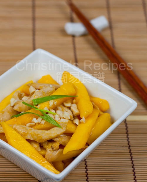 杏仁芒果炒雞柳 Fried Chicken with Mango and Roasted Almonds01