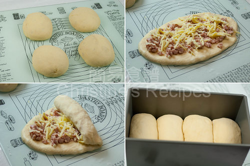 芝士煙肉麵包製作圖 Bacon and Cheese Bread Procedures