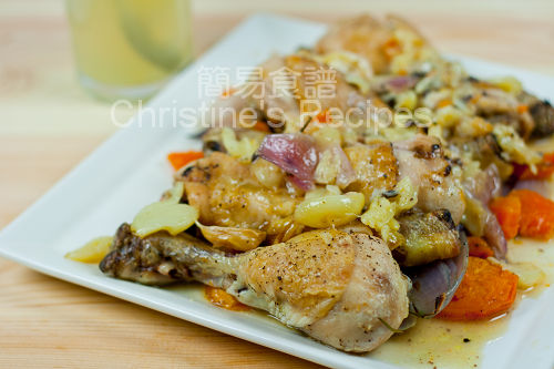 Roasted Chicken Drumsticks with Garlic and Sweet Potato02