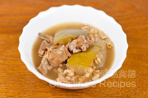 冬瓜去濕湯 White Gourd with Pearl Barley soup01