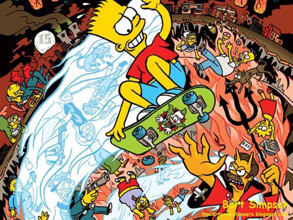 Supreme 3d Wallpaper Top Cartoon Wallpapers Bart Simpson Best Wallpaper