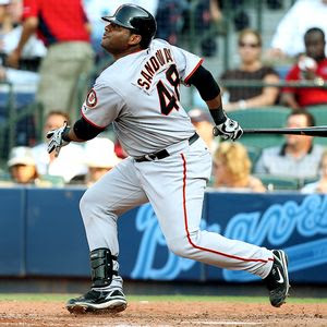 Pablo Sandoval is currently second in batting in the NL and is hitting .333.